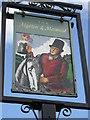 SJ5409 : Sign of 'The Mytton & Mermaid' - a roadside inn by Row17