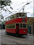 SK3455 : London Tram at Crich Tramway Village by Keith Edkins