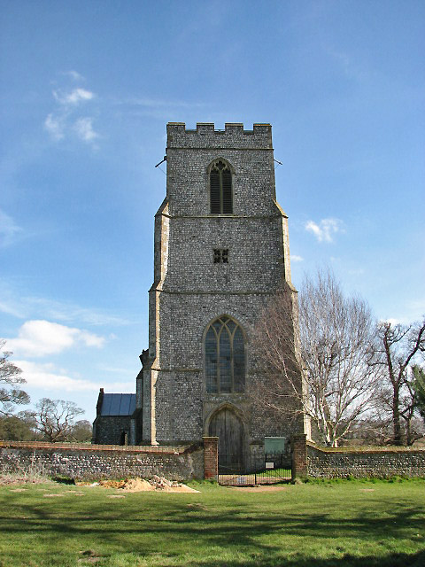 St Margaret's church - view from footpath