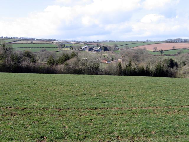 View towards Tedbridge, Bradninch, Devon