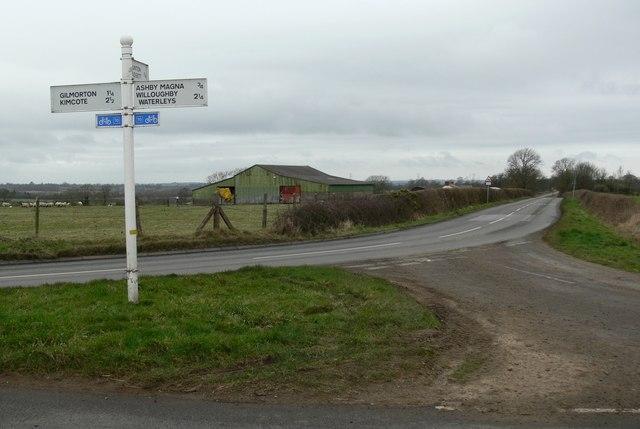 Gilmorton Road junction by Mat Fascione