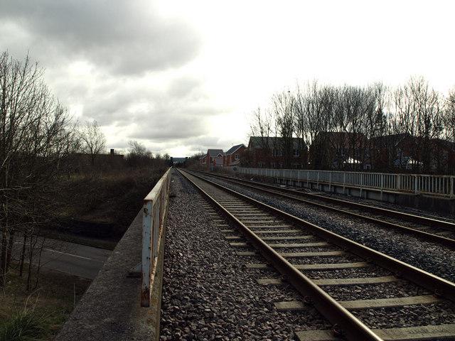 Rail Bridge above the A1147