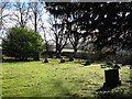 NY9538 : The churchyard, Eastgate (2) by Mike Quinn