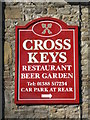 NY9538 : Sign for the Cross Keys by Mike Quinn