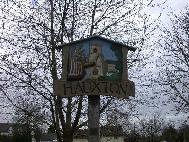 Hauxton Village Sign - detail