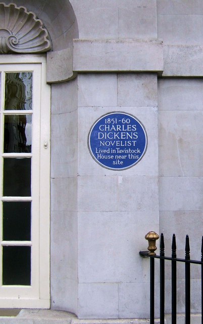 Charles Dickens' Blue Plaque, Woburn Place, London WC1