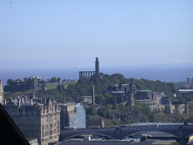 Calton Hill viewed from Edinburgh Castle