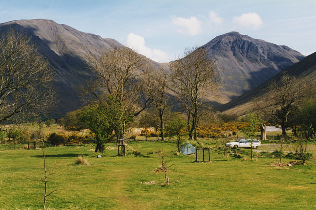 National Trust campsite at Wasdale Head