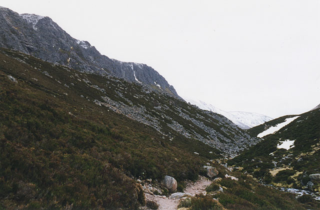 The entrance to the Lairig Ghru