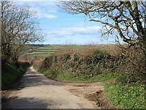 SX0782 : Lane to Trewalder by Derek Harper