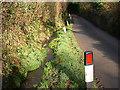 SX0958 : Road and Stream by Tony Atkin