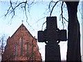 NS5565 : Celtic Cross at Govan Old Parish Church by Lynn M Reid