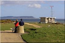 SZ1790 : View from the triangulation pillar, Hengistbury Head by Jim Champion