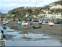 SX2553 : Looe harbour tide out by roger geach