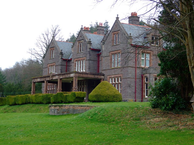 Buckland Hall, Bwlch,  the West Front
