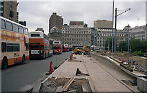 SJ8498 : Construction of Piccadilly Gardens tram station by Dr Neil Clifton