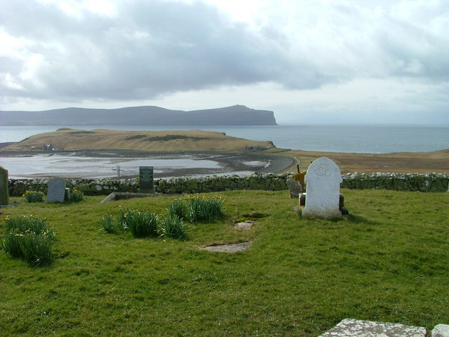 Gravestones at Trumpan