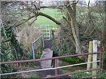 SU1126 : Gates and footbridge near Homington House by Maigheach-gheal