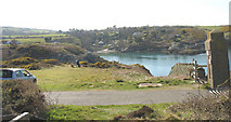 SH4793 : Porth Eilian cove from the entrance to the Point Lynas lighthouse road by Eric Jones
