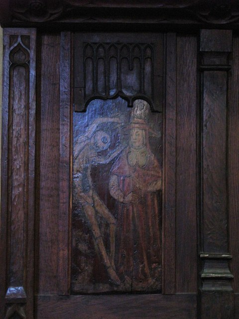 """Part of the """"Dance of Death"""", Hexham Abbey"""