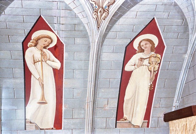 Images found on the chapel roof to the left of the altar