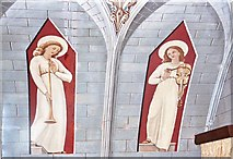 HY4800 : Images found on the chapel roof to the left of the altar by Des Colhoun