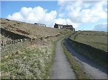 SE0716 : Lane from Waterloo up to Marsden Gate, Stainland by Humphrey Bolton