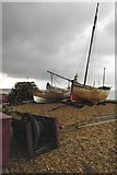TR3752 : Fishing Boats on Deal Beach, Kent 2 by John Mavin
