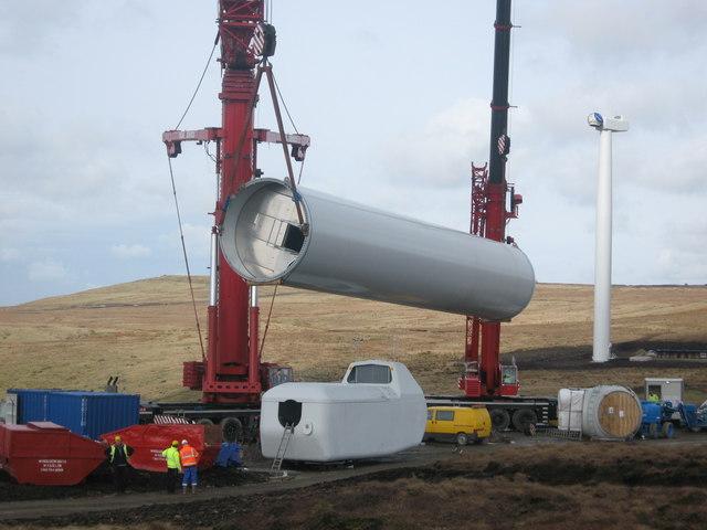 Construction begins on Turbine Tower No 8