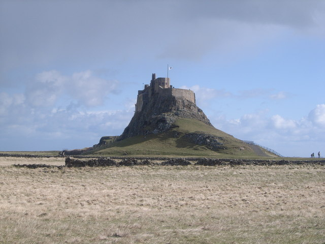 First view of Lindisfarne Castle