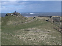 NU1341 : Looking out to sea from Lindisfarne Castle by Nick Mutton