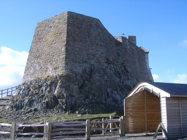 Lindisfarne Castle - rear view