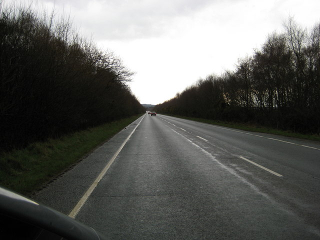 Looking south down A149
