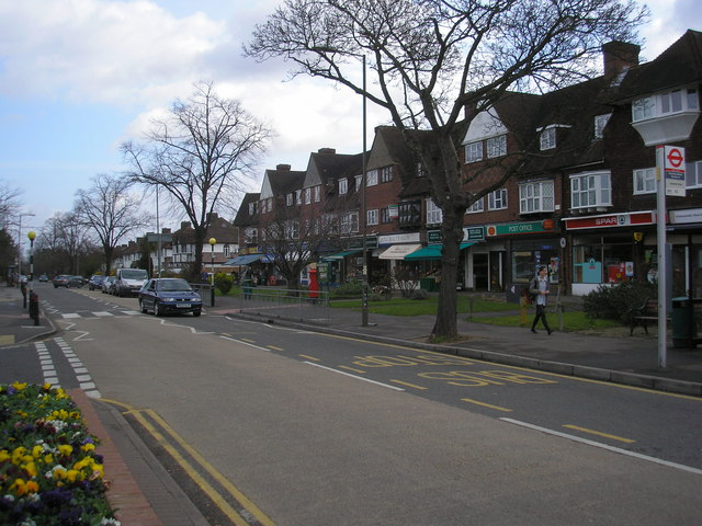 Shops, Manor Road North, Hinchley Wood