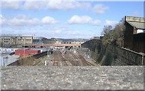 SE1632 : View from Caledonia Street Bridge - looking towards Bradford Interchange by Betty Longbottom