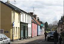 TL5646 : Colourful houses on Linton High Street by Colin Bell