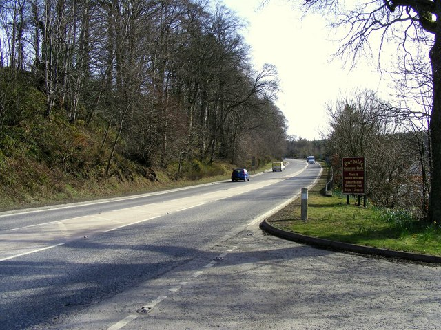 The A96 at Fochabers