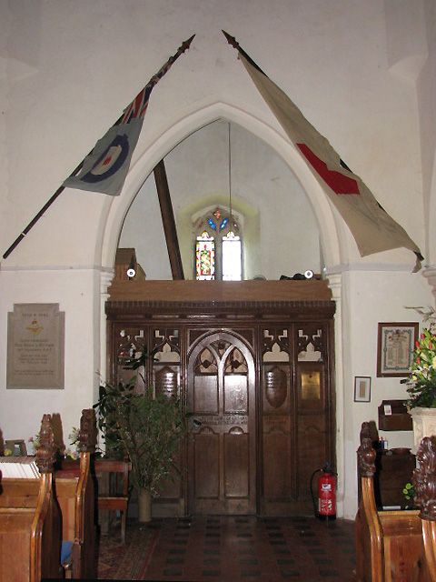 St Margaret's church - tower arch and screen