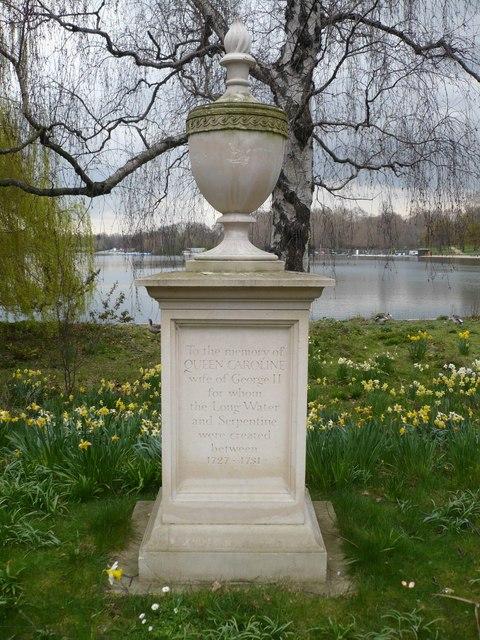 Memorial to Queen Caroline, wife of George II