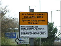 NS4865 : Glasgow Airport Byelaws, 2005 by Thomas Nugent
