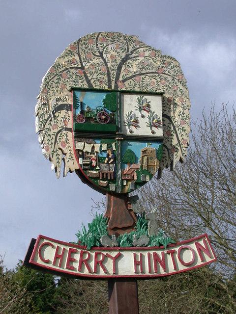 Cherry Hinton Village Sign - detail