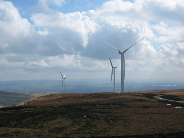 Scout Moor Wind Farm Turbines 9,10 and 15