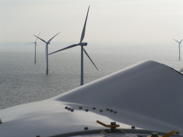 View of the Kentish Flats Windfarm from top of a turbine