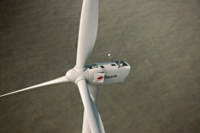 Wind Turbine from the air
