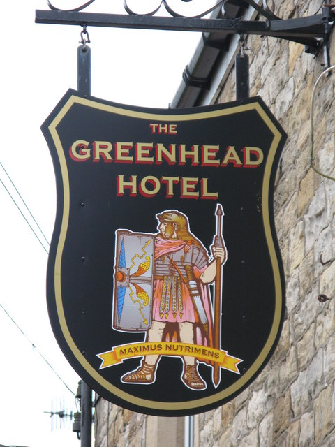 Sign for the Greenhead Hotel