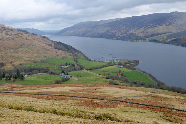 Loch Earn and lower Glen Beich