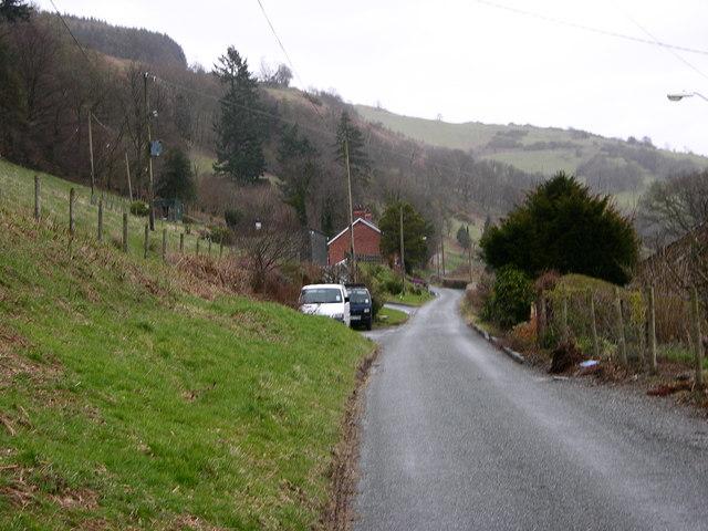Minor Road along Dovey Valley