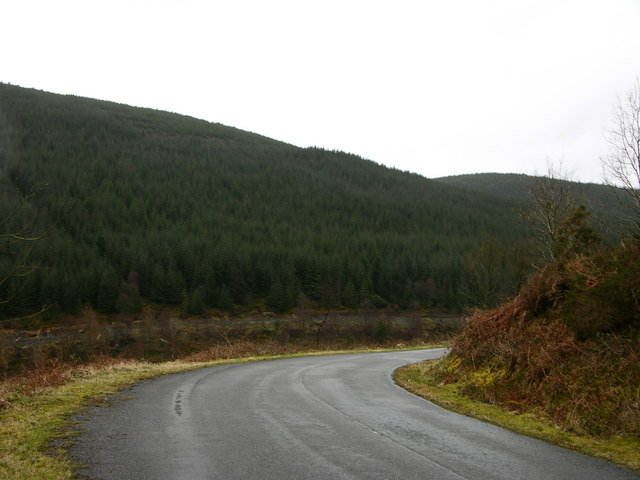 Bend on mountain road