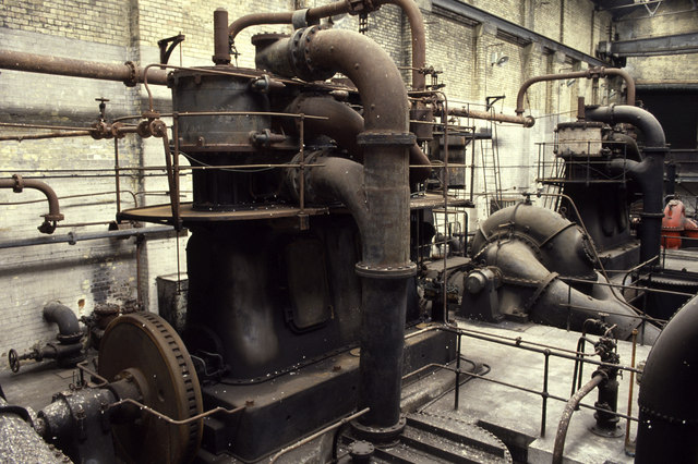 Whitehall Road Power Station, circulating pump house.