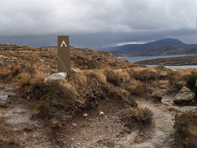 Way marker, Coigach Peninsula Coastal Path